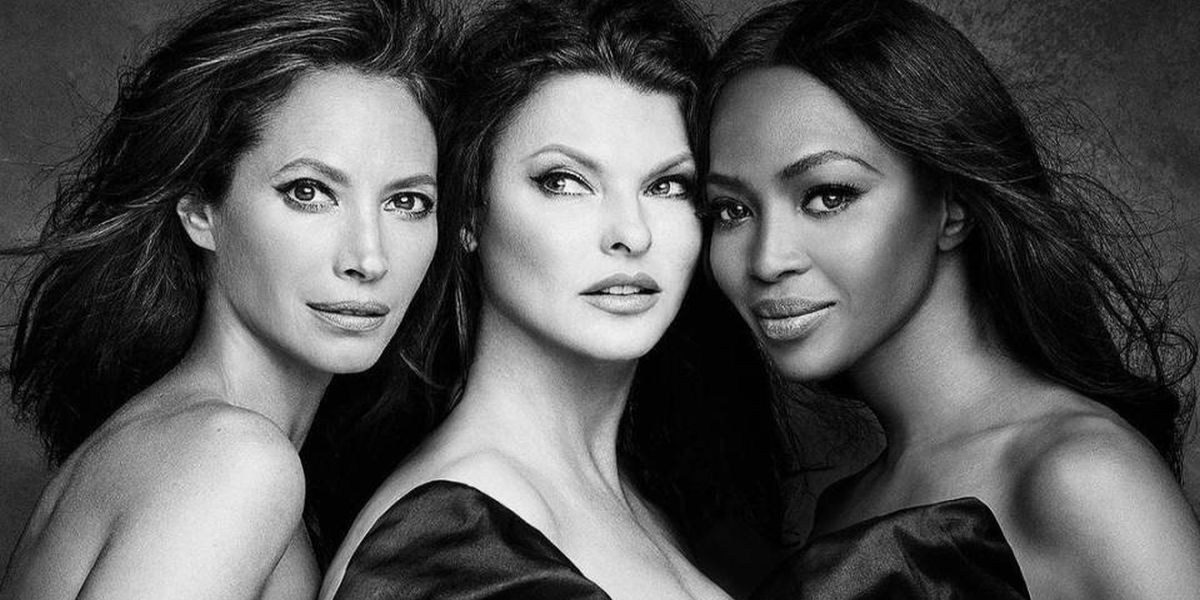 Christy Turlington, Linda Evangelista, and Naomi Campbell posed wrapped in a big bow for a new campaign #KnotOnMyPlanet  which supports the Elephant Crisis Fund.